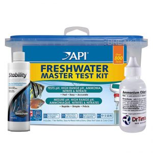 small Test kit + bacteria + ammonia