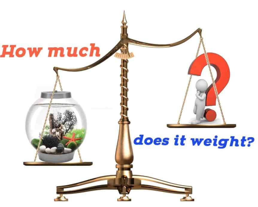 How much does shrimp tank weight