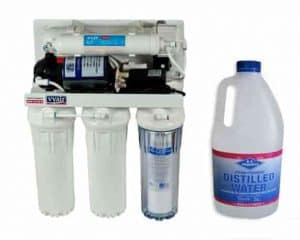 Reverse osmosis unit and Distilled water