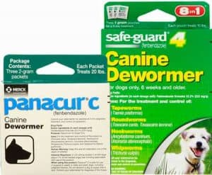 Fenbendazole (Panacur and Canine Dewormer)