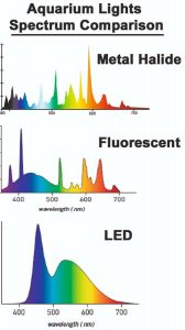 Aquarium Lights Spectrum Comparison