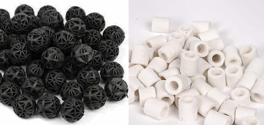 Comparison - Bio Balls and Ceramic Rings
